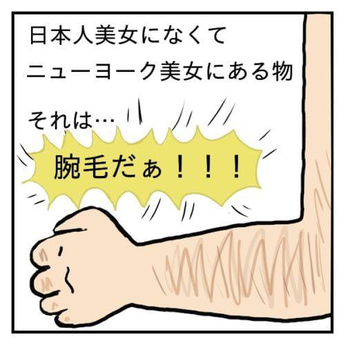 ウデ毛がはえている腕の絵