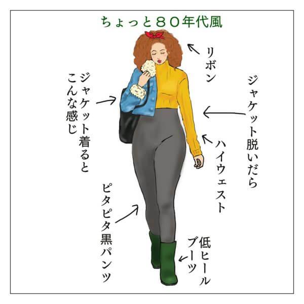 ニューヨークの女子高校生の服装、80年代風
