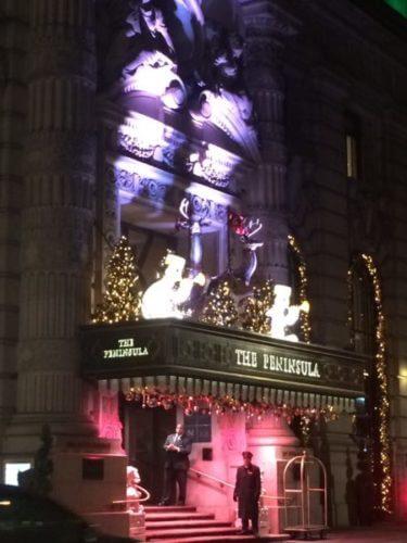 ニューヨークの5つ星ホテルであるペニンシュラホテルのクリスマスデコレーション
