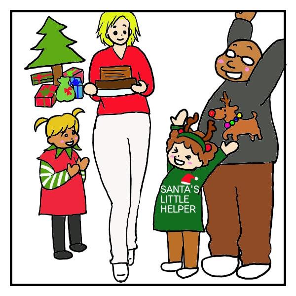 アメリカのクリスマスパーティーの様子