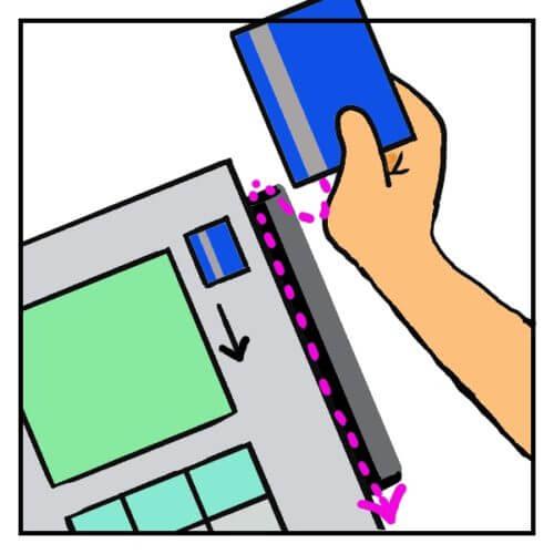 アメリカでクレジットカードをスライド(スワイプ)させる方法