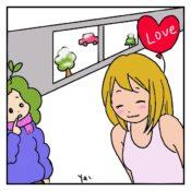 バレンタインで嬉しすぎてタンクトップになっちゃった女の子