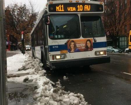 ニューヨークのMTAバス