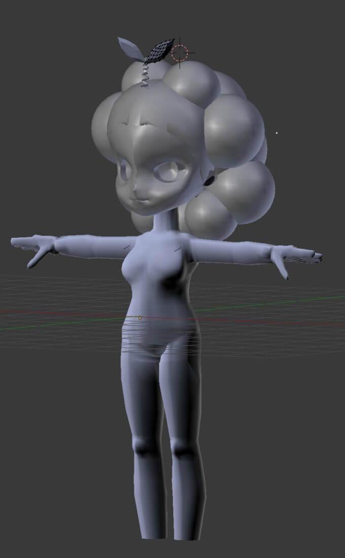 ニューヨークのイェイちゃんの3D人形の進捗写真