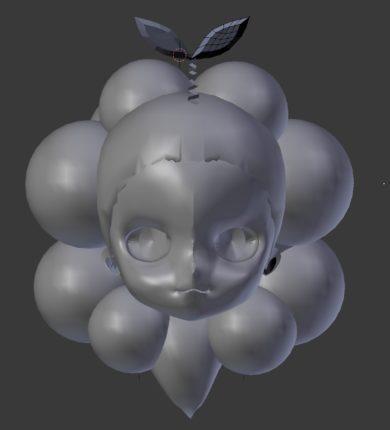 ニューヨークのイェイちゃんの3D人形頭部