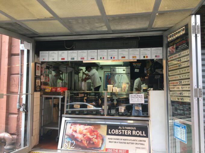 ニューヨークのオリジナルスープマンの店内