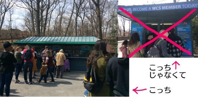 ブロンクス動物園でメンバーシップ・カードをくれるブース